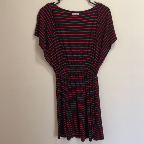 Charming Charlie Black And Red Striped Dress Poshmark